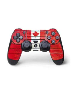Canada Flag Light Wood PS4 Pro/Slim Controller Skin