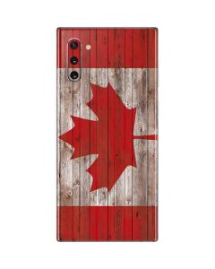 Canadian Flag Dark Wood Galaxy Note 10 Skin