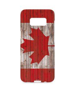 Canadian Flag Dark Wood Galaxy S8 Plus Lite Case