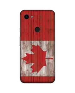 Canadian Flag Dark Wood Google Pixel 3a Skin