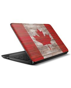 Canadian Flag Dark Wood HP Notebook Skin