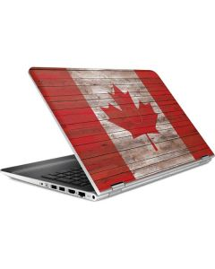 Canadian Flag Dark Wood HP Pavilion Skin