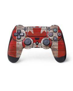 Canadian Flag Dark Wood PS4 Pro/Slim Controller Skin