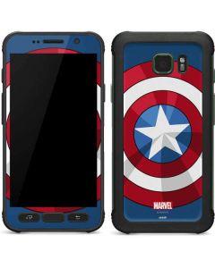 Captain America Emblem Galaxy S7 Active Skin