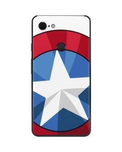 Captain America Emblem Google Pixel 3 XL Skin