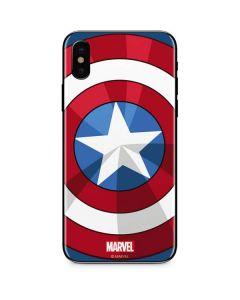 Captain America Emblem iPhone X Skin