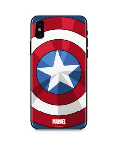 Captain America Emblem iPhone XS Skin