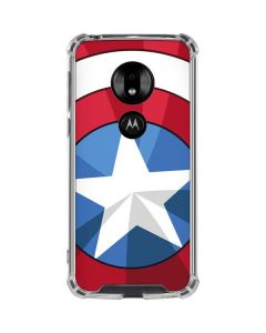 Captain America Emblem Moto G7 Play Clear Case