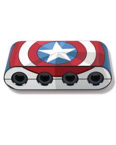 Captain America Emblem Nintendo GameCube Controller Adapter Skin