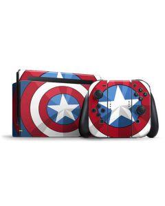 Captain America Emblem Nintendo Switch Bundle Skin