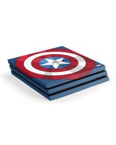 Captain America Emblem PS4 Pro Console Skin