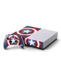 Captain America Emblem Xbox One S All-Digital Edition Bundle Skin