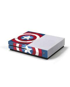 Captain America Emblem Xbox One S Console Skin