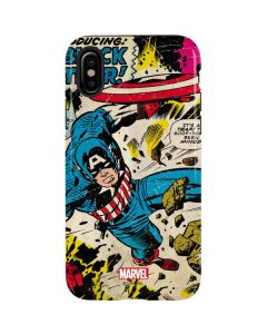 Captain America Rooftop Explosion iPhone XS Max Pro Case