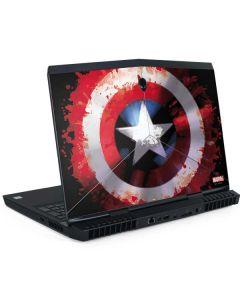 Captain America Shield Dell Alienware Skin