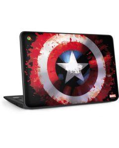 Captain America Shield HP Chromebook Skin