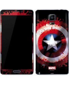Captain America Shield Galaxy Note 4 Skin