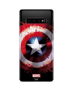Captain America Shield Galaxy S10 Plus Skin