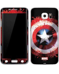 Captain America Shield Galaxy S6 Edge Skin