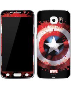 Captain America Shield Galaxy S6 Skin