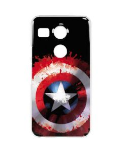 Captain America Shield Google Nexus 5X Clear Case