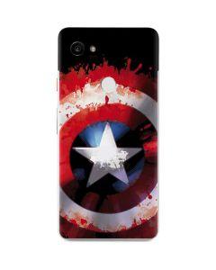 Captain America Shield Google Pixel 2 XL Skin