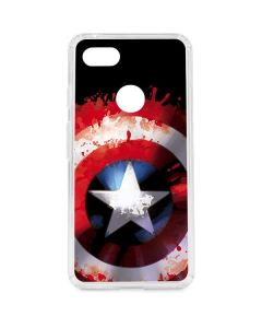 Captain America Shield Google Pixel 3 XL Clear Case