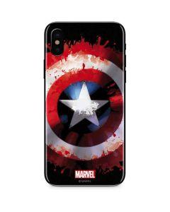 Captain America Shield iPhone X Skin