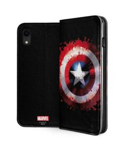 Captain America Shield iPhone XR Folio Case