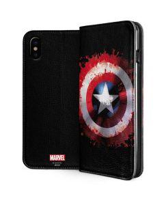 Captain America Shield iPhone XS Folio Case