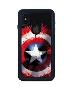 Captain America Shield iPhone XS Waterproof Case