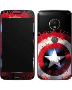 Captain America Shield Moto G5 Plus Skin