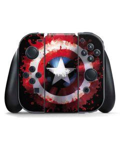 Captain America Shield Nintendo Switch Joy Con Controller Skin