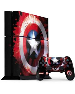 Captain America Shield PS4 Console and Controller Bundle Skin
