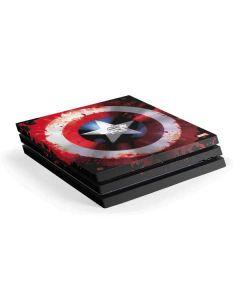 Captain America Shield PS4 Pro Console Skin
