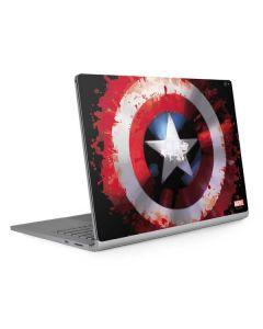 Captain America Shield Surface Book 2 15in Skin