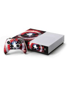 Captain America Shield Xbox One S Console and Controller Bundle Skin