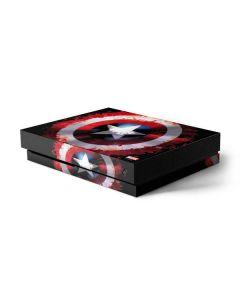 Captain America Shield Xbox One X Console Skin