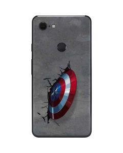 Captain America Vibranium Shield Google Pixel 3 XL Skin