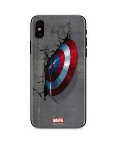 Captain America Vibranium Shield iPhone X Skin