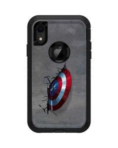 Captain America Vibranium Shield Otterbox Defender iPhone Skin