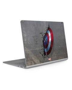 Captain America Vibranium Shield Surface Book 2 13.5in Skin