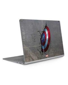 Captain America Vibranium Shield Surface Book 2 15in Skin