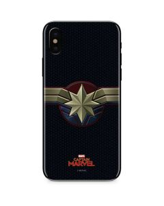 Captain Marvel Emblem iPhone XS Max Skin