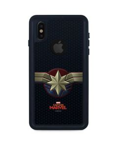 Captain Marvel Emblem iPhone XS Waterproof Case