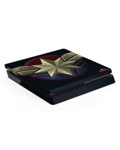 Captain Marvel Emblem PS4 Slim Skin