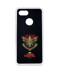Captain Marvel Patch Google Pixel 3 Clear Case