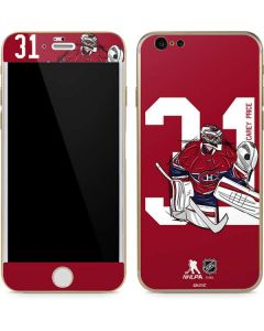 Carey Price #31 Action Sketch iPhone 6/6s Skin