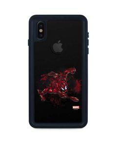 Carnage Splatter iPhone XS Waterproof Case