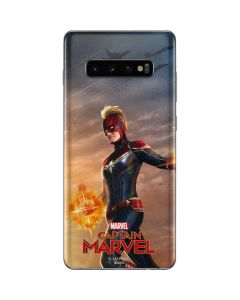 Carol Danvers Ready for Battle Galaxy S10 Plus Skin